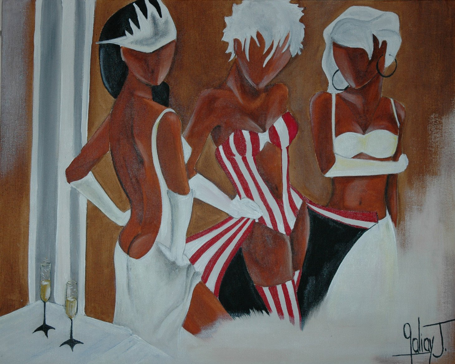 Mes oeuvres for Peinture chambre femme
